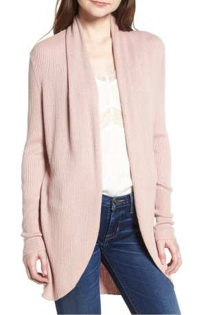 LEITH RIBBED SHAWL COCOON SWEATER Pink| NORDSTROM Anniversary Sale 2018