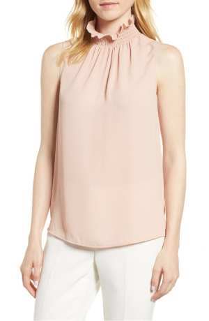 Ruffle Neck Blouse VINCE CAMUTO