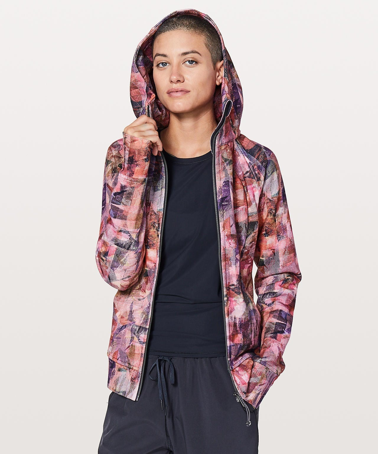 Sun Dazed Multi Pink/Super Dark Scuba Hoodie