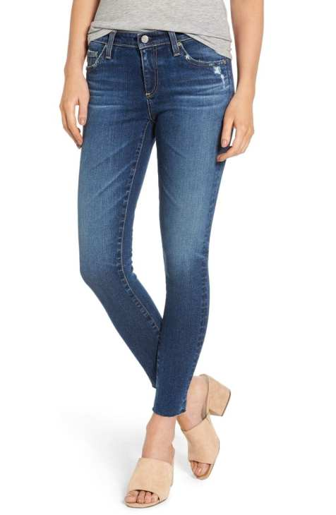 The Legging Raw Hem Ankle Skinny Jeans AG