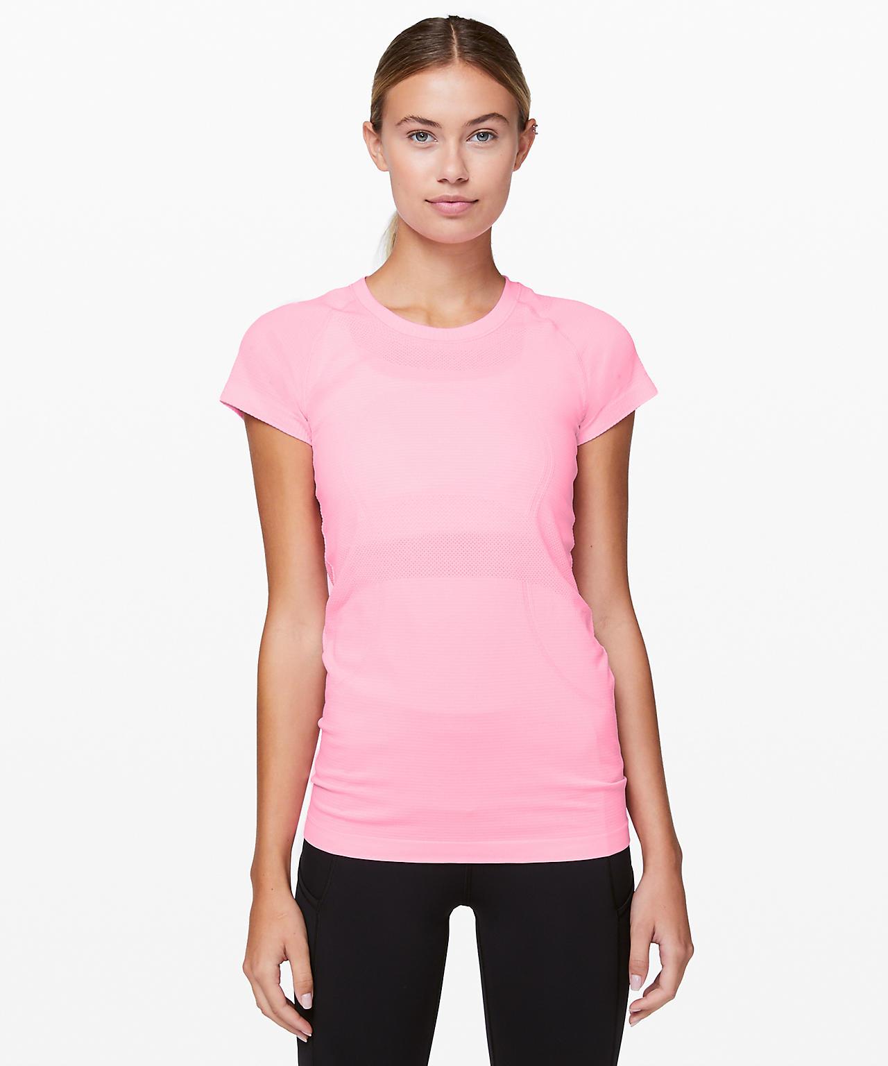 Swiftly Tech Short Sleeve Pink Shell