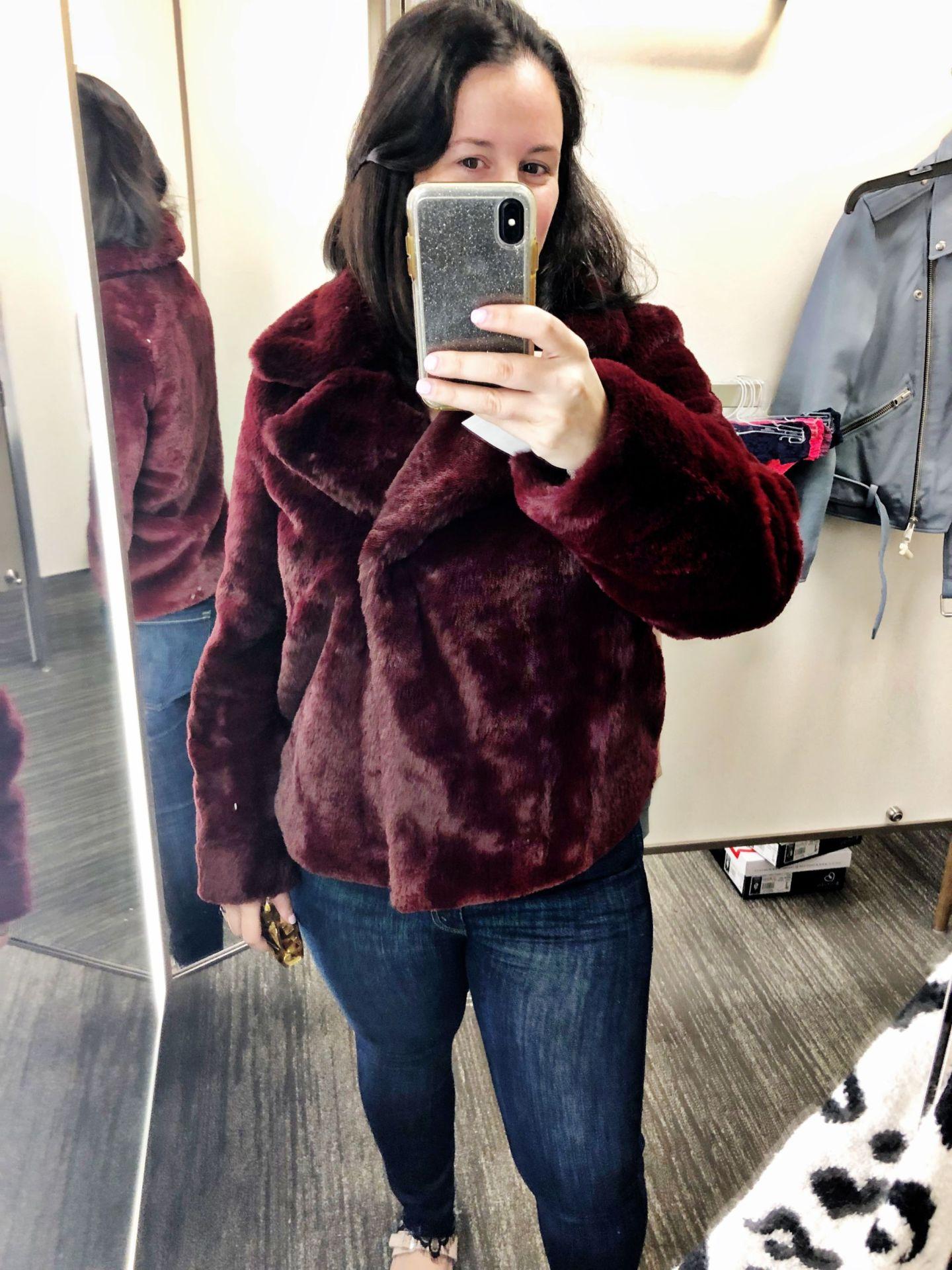 Short Faux Fur Coat FRAME | Anniversary Sale