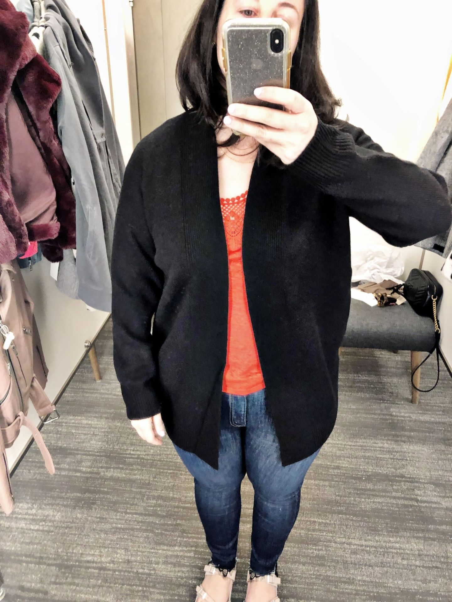 Vince Rib Trim Wool & Cashmere Cardigan | Anniversary Sale 2019 | Nordstrom Anniversary Sale Dressing Room Selfies