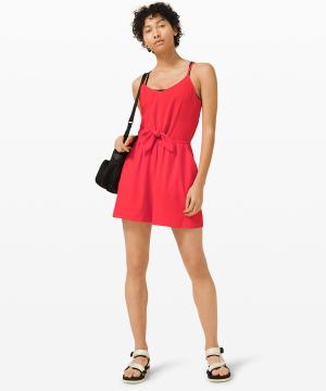 Handle the Heat Romper_Carnation Red 2