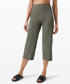 Lululemon Align Wide Leg Crop Grey Sage