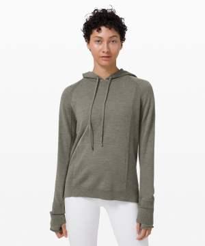 Sit in Lotus Hoodie Sweater grey sage