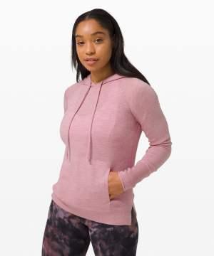 Sit in Lotus Hoodie Sweater heathered pink taupe