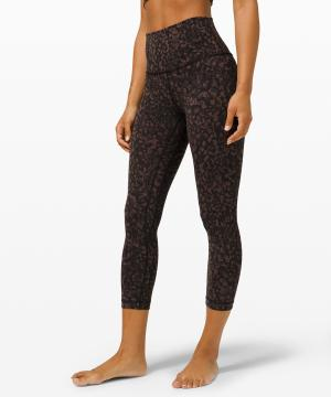 lululemon align crop Wild Thing Camo Brown Earth Multi