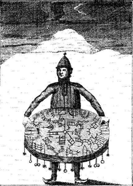 Chaman Saami et son tambour rituel