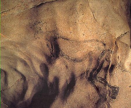 """Dessin original du """"Sorcier"""", grotte des Trois-Frères, Ariège"""