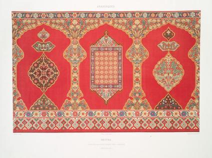 Prisse d'Avennes - L'art arabe 10 - Heitha - tenture de revêtement des lambris (XVIIIe. siècle) (1877)