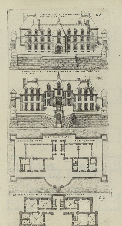 6 - Jacques Ier Androuet du Cerceau - Livre d'architecture contenant les plans & dessaings de cinquante bastimens tous differens