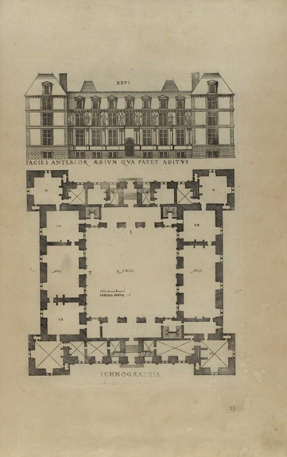 7 - Jacques Ier Androuet du Cerceau - Livre d'architectvre avqvel sont contenves diverses ordonnances de plants et élévations de bastiments