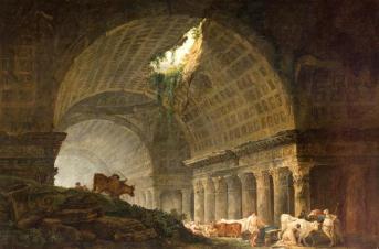 Hubert Robert- Ruines d'une galerie