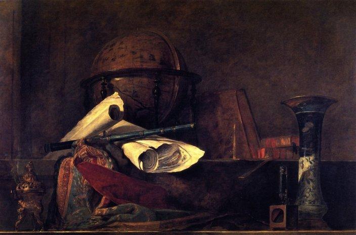 Les attributs des sciences - Jean-Baptiste-Siméon Chardin