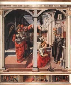Filippo Lippi - Annonciation de la basilique San Lorenzo - Florence (1445-bois-175-x-183-cm)