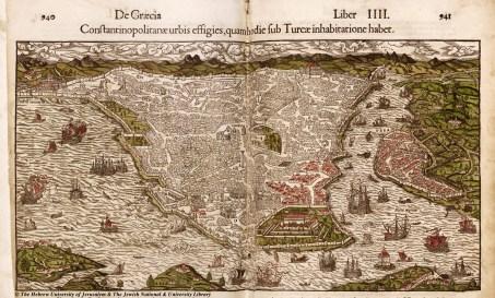 02 - Sebastian Munster - Constantinopolitanae urbis effigies, quamhodie sub Turcae inhabitatione habet - Cosmographiae Universalis - 1550