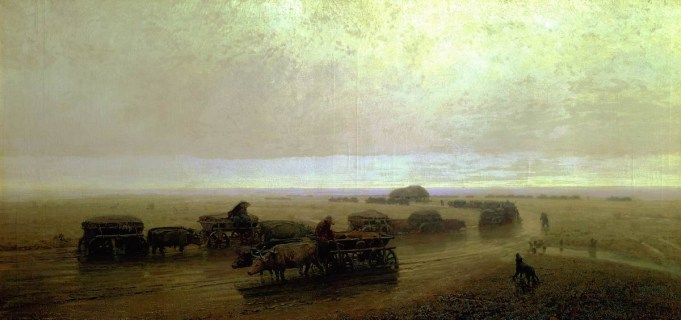 Arkhip Ivanovich Kuindzhi - Chemin des Chumak à Mariupol - 1875
