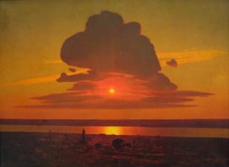 Arkhip Ivanovich Kuindzhi - Coucher de soleil rouge sur le Dniepr - 1905