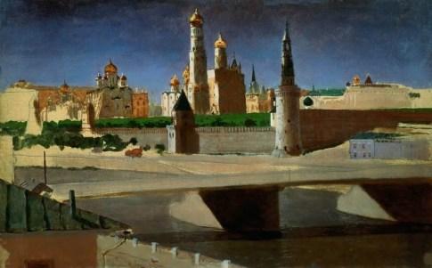 Arkhip Ivanovich Kuindzhi - Moscou. Vue du Kremlin depuis le district de Zamoskvorechye - 1882