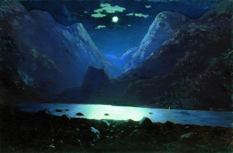Arkhip Ivanovich Kuindzhi - Passe de Darial, clair de lune - 1895