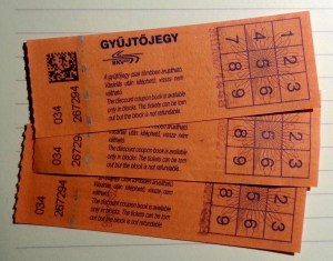 Gyűjtőjegy (ticket de tramway de Budapest)