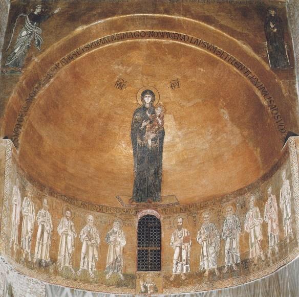 Annonciation, Vierge Odigitria  (theotokos) et Apôtres, Torcello, basilique Santa Maria Assunta - XIIè siècle