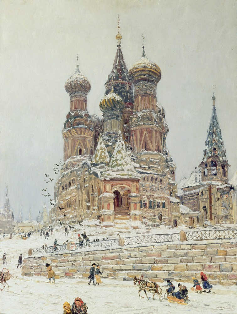 Nikolai Nikanorovich Dubovskoy - Saint-Basile à Moscou - 1916