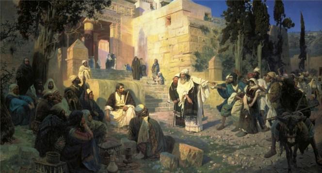 Vasili Dimitrievich Polenov (1844 - 1927) - Jésus et la femme adultère - 1888