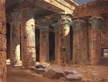 Vasili Dimitrievich Polenov (1844 - 1927) - Les ruines du temple d'Isis à Philae - 1882