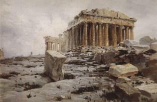 Vasili Dimitrievich Polenov (1844 - 1927) - Parthénon d'Athènes - 1882