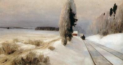 Vasili Dimitrievich Polenov (1844 - 1927) - Voix de chemin de fer près de la gare de Tarusa - 1903