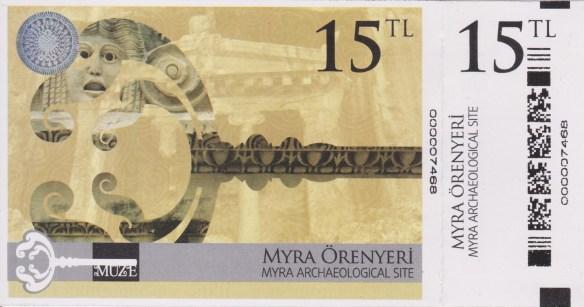 ticket Myra Örenyeri