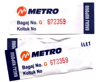 Etiquettes de bagages MetroTurizm