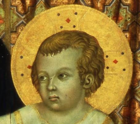Nimbe crucifère du Christ enfant