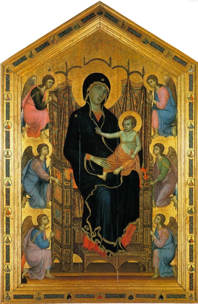 Duccio di Buoninsegna -  Madonne Rucellai - 1285 -  Galleria degli Uffizi - Florence