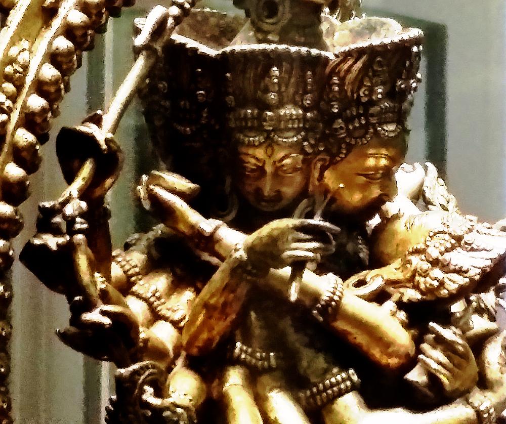 Hevajra et Nairâtmya - Tibet - XVIe siècle - Musée Guimet