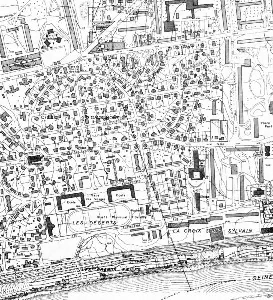 Plan de la cité-jardin d'Orgemont