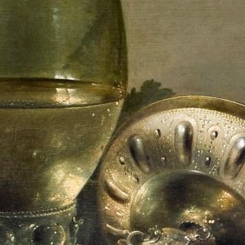 Willem Claeszoon Heda - Nature morte à la vigne (détail verre et coupe) - 52x68cm - Musée Hallwyl - Stockholm