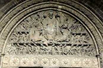 Tétramorphe du tympan - Abbaye Saint-Pierre - Moissac
