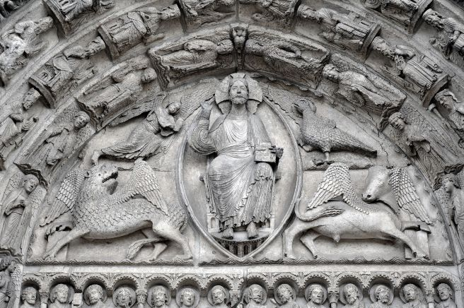 Tympan du portail central de la cathédrale de Chartres