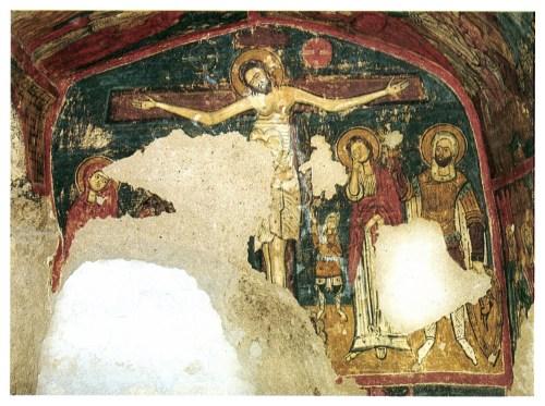 La Crucifixion de l'église de Tatlarin, peinte face à l'abside in La Cappadoce de Catherine Jolivet-Lévy