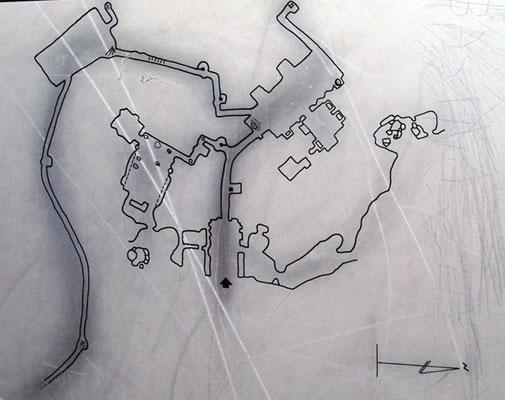 Plan de la cité souterraine de Tatlarin