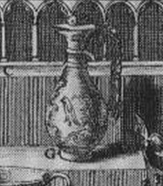 Dom Michel Félibien - Trésor de Saint-Denis (1706) - Planche issue de l'Histoire de l'abbaye royale de Saint-Denys en France - détail