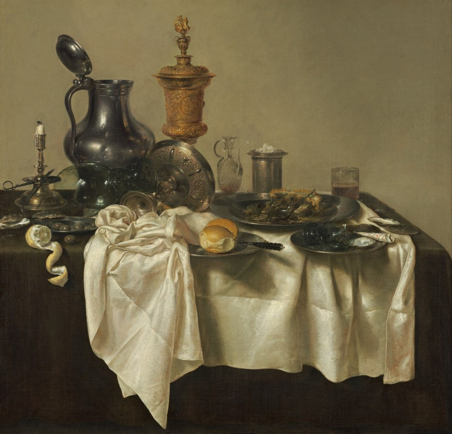 Willem Claeszoon Heda - Nature morte à la tartelette - 1635 - 106x111cm - National Gallery of Art - Washington