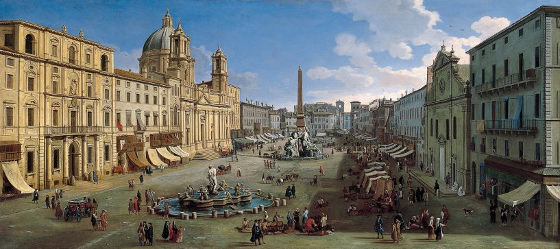 Gaspar Vanvitelli - La Piazza Navona