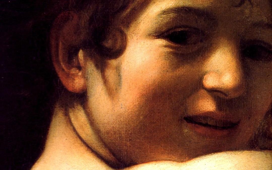 Le jeune Saint Jean-Baptiste au bélier de Caravage et l'ignudo de Michel-Ange