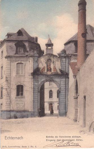 Echternach - Entrée de l'ancienne abbaye