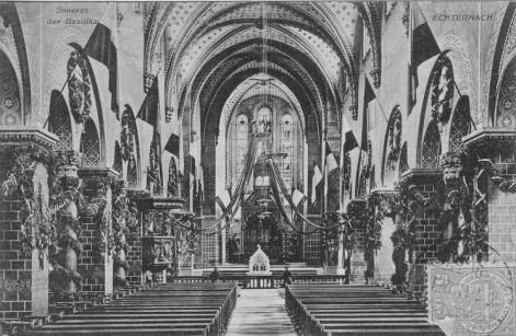 Echternach - Intérieur de la basilique Saint Willibrord