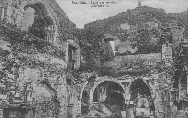 Château de Vianden (Luxembourg) - La salle des gardes